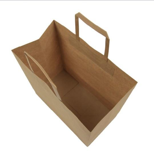 啡色扁紙繩手挽紙袋 (無底咭)