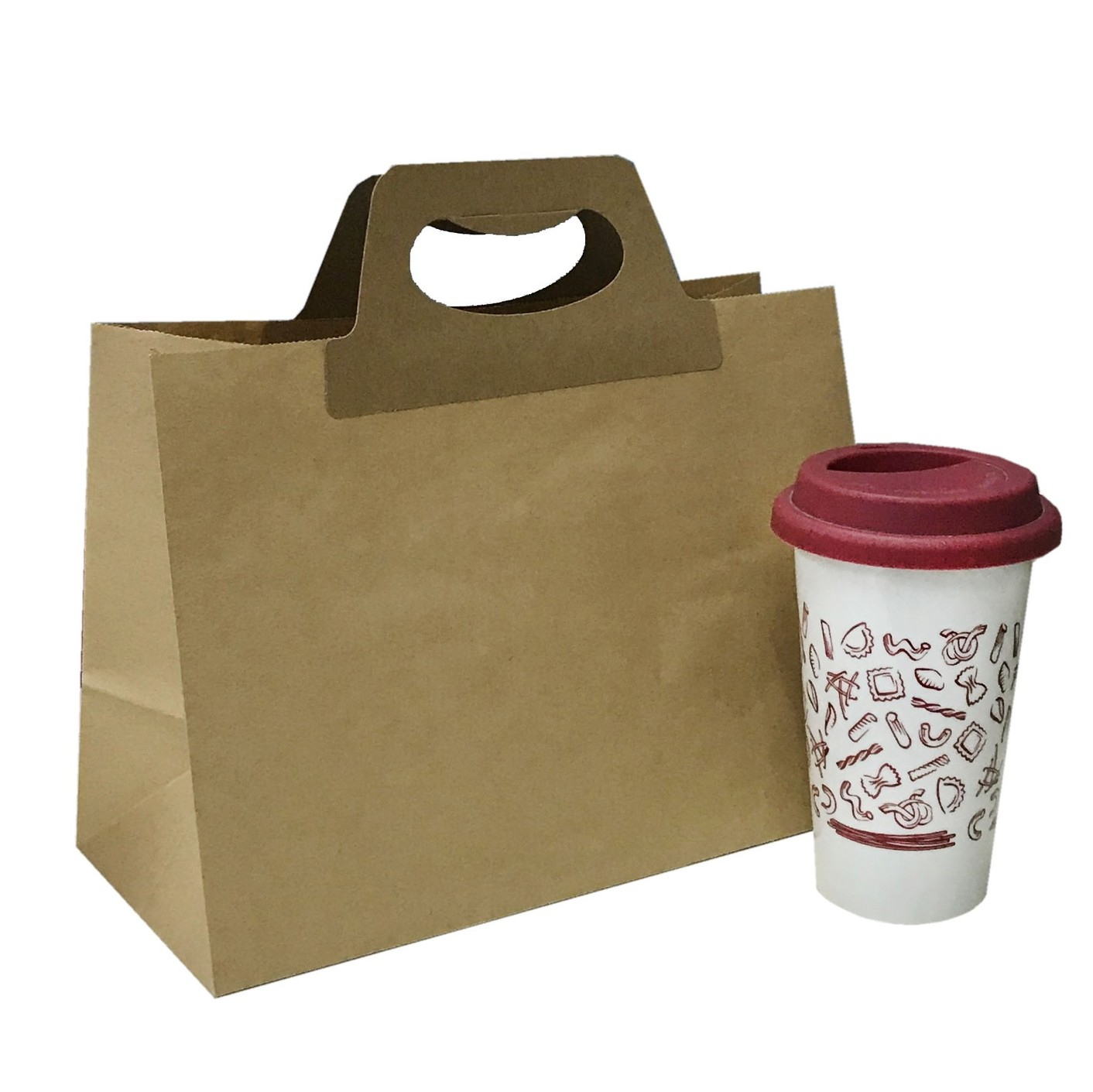 SALE: PATENT DIE-CUT HANDLE PAPER BAGS (WITH BASE CARD)