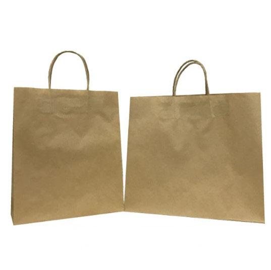 特價原牛紙繩手挽袋 (有底咭, 80g啡牛)