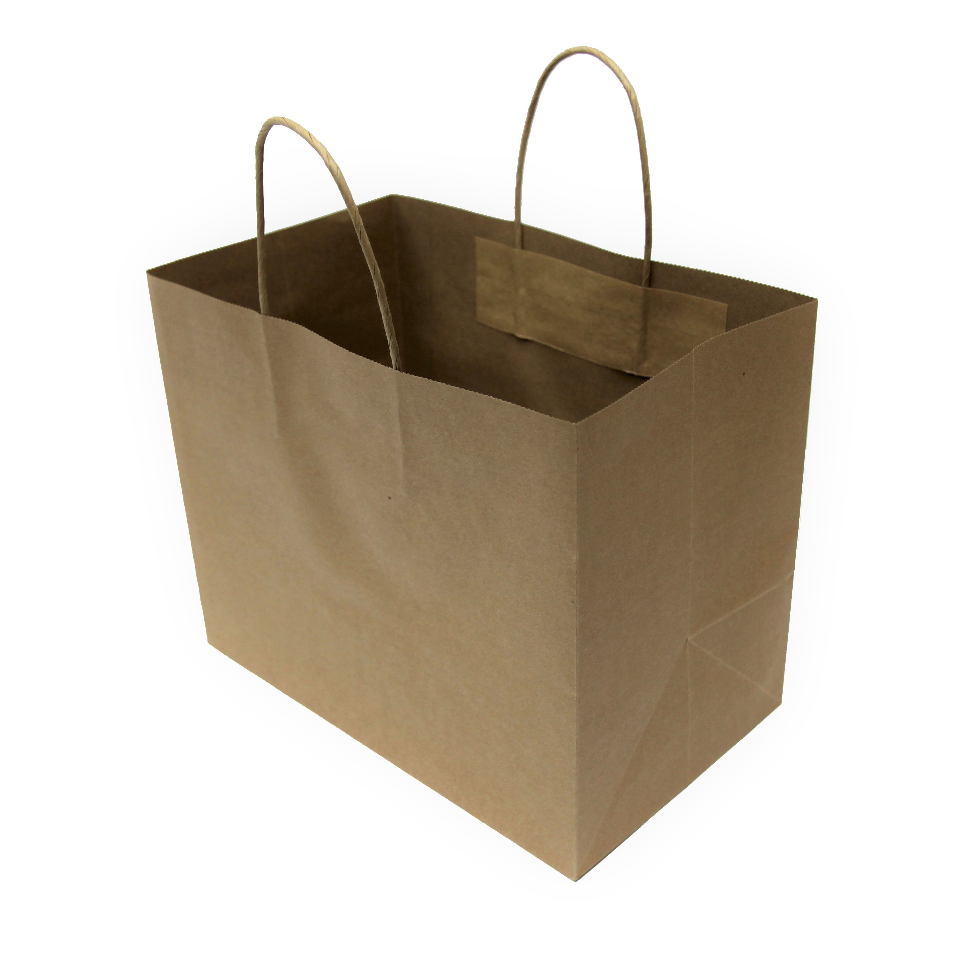 BROWN TWISTED HANDLES PAPER BAG (WITH BASE CARD)