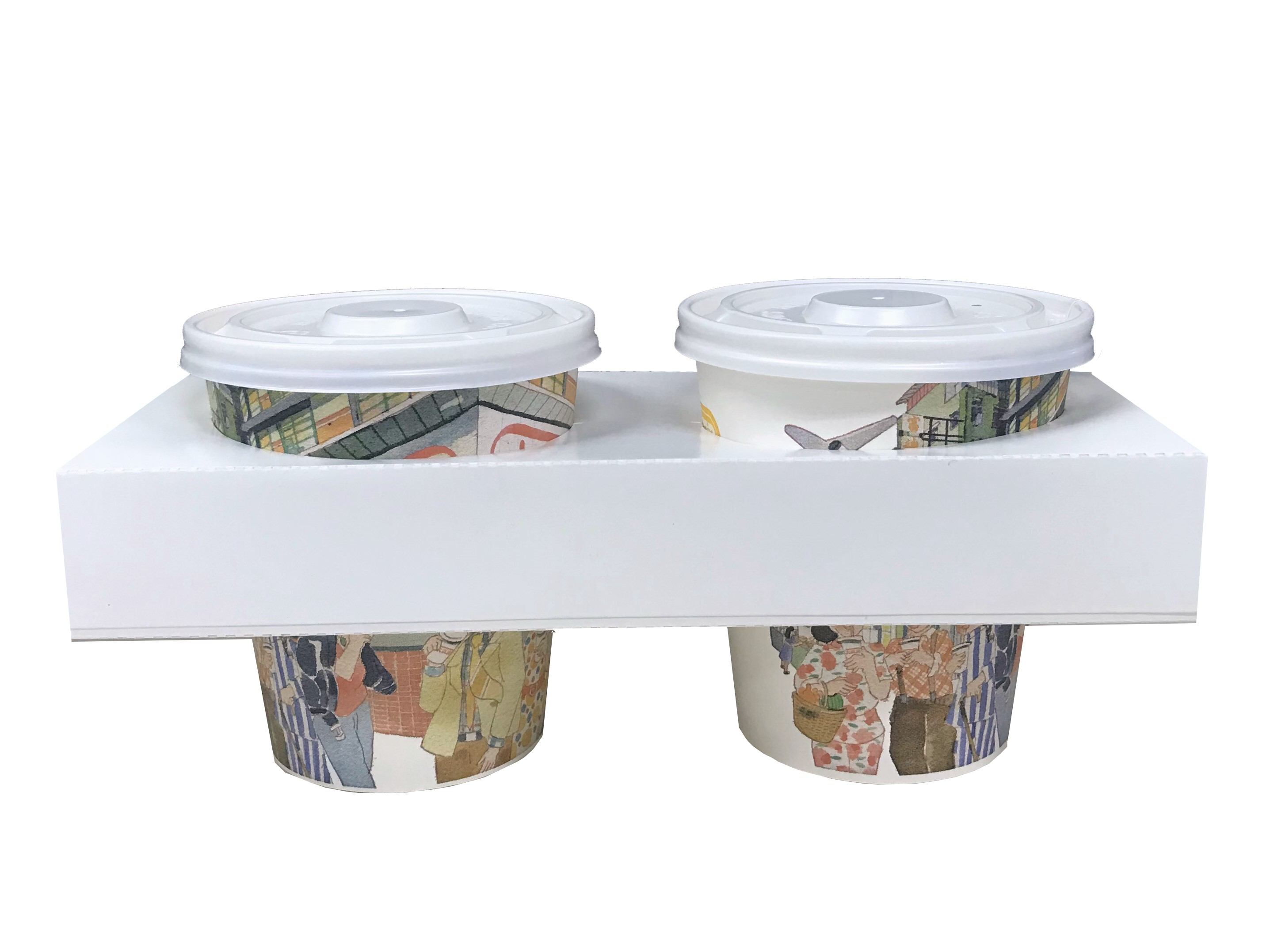Paper Cup Holder (Same Hole)